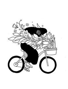 CHRISTOPHER DELORENZO, Bike with Flowers