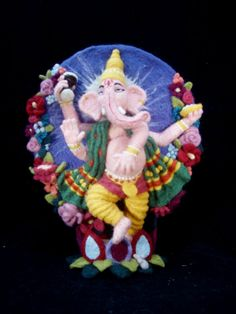 Fickle Felted Ganesh by FickleShop on Etsy, $1000.00