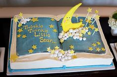 Library Themed Baby Shower Cake