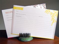 Recipe Cards by Gait Design