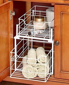 2-Tier Multipurpose Cabinet Basket (White) ** Click image to review more details. (This is an affiliate link) #KitchenCabinetsMakeover