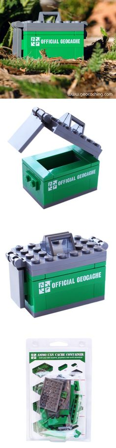 Build your own ammo can brick set. This set of 33 building bricks can be assembled into a great micro mock ammo can that people will love to find. #IBGCp