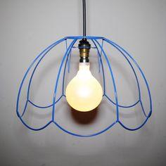 "14"" Blue Tiffany Skeleton Lampshade - Shade Only"