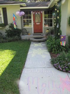 Rapunzel Party - Entry.  Write a message to the Bday girl
