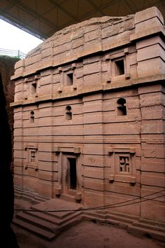 A Zagwe church at Lalibela in a clear Aksumite style. - Kingdom of Aksum - Wikipedia, the free encyclopedia
