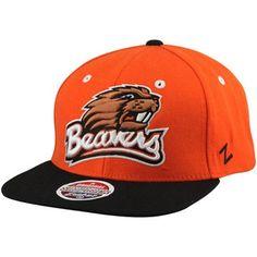 Adjustable Zephyr NCAA Oregon Ducks Mens Imprintimprint Platinum Logo Snapback Hat Team Color//Dark Gray