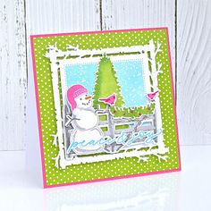 Peace & Joy Card by Michelle Leone for Papertrey Ink (November Christmas Snowman, Christmas Crafts, Christmas Ideas, Paper Tray, Snowman Cards, Periwinkle, Album, November, Card Making
