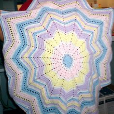 Ravelry: Project Gallery for Round Ripple Afghan pattern by Sew On Fire Ministries