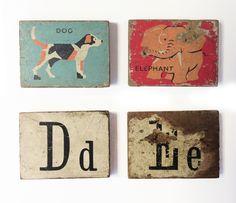 Vintage Letter blocks.