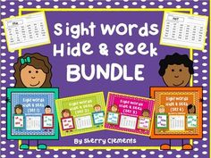 Sight Words Hide and Seek BUNDLE - 100 sight words - kindergarten and first grade reading - This sight word hide and seek activity can be used for introducing sight words, reviewing sight words, homework, morning work, interventions (RTI), literacy centers, and much more. $