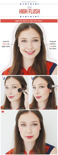 The high flush blush look that gives you instant cheekbones. #makeup #beauty #tutorial