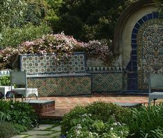 The tiles of Casa del Herrero - House of the Blacksmith - by architect George Washington Smith. Montecito, CA. 1925.
