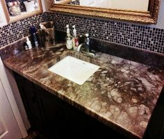 Home Diy Concrete And Epoxy Countertops Flooring Boys Bathroom Countertop