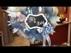 Baby Deco Mesh Wreath - YouTube