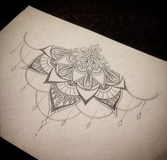 sternum tattoo - without the dangly part