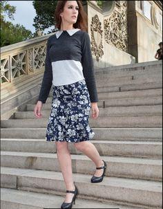 The Courtney collar top with the Kimberely ruffle skirt. Fall Winter, Autumn, Work Skirts, Collar Top, Work Looks, Ruffle Skirt, Skyscraper, Street Wear, Dress Up