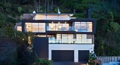 Located in the Wellington suburb of Days Bay, the area has a strong topographical character consisting of an amphitheatre of steep beech forest sloping down to the edge of Wellington harbour. Grand Designs Houses, Architecture Design, House Design, Mansions, House Styles, Building, Strong, Beach Houses, Character
