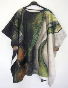 Growth – Limited Edition Poncho by Carla Raadsveld My painting Growth printed on a large first class warm Polar fleece with a soft shine, beautiful draping and deep colors. A very exclusive Poncho Limited Edition of 30 delivery time between days Irish Art, First Class, Polar Fleece, Wearable Art, Kimono Top, Cover Up, Draping, Warm, Prints