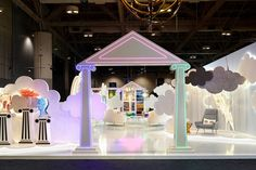 Dreamland featured neoclassical columns inspired by Caesarstone's headquarters in the old Roman port city of Caesarea. The result was Instagrammable. Caesarstone | Jonathan Andler | Interior Design Show 2020 | Interior Design Projects | Quartz | Dreamland | Décor Projects