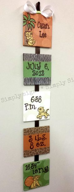 Disney Kids Line Lion King Custom Birth by SimplySignsByJess, $50.00