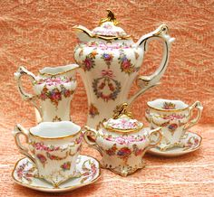 Gorgeous Vintage Tea Service~ All Pieces With Unusual Square…