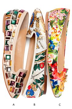 The New Florals - Dolce & Gabbana Ballet Flats 2014
