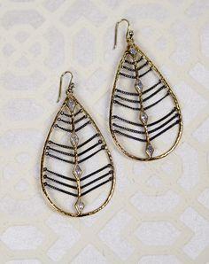 Melinda Maria - Oxidized Chain Drop Earrings | Chloe Rose