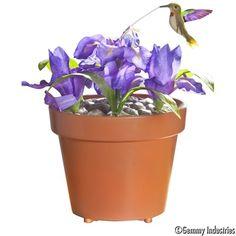 Gemmy   My Pet Hummingbird - Purple Iris