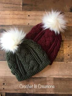 10 Free Crochet Beanie Patterns - Crochet it Creations
