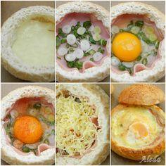 Tojásos szendvics Hungarian Recipes, Pause, Hummus, Hamburger, Nom Nom, Sandwiches, Pizza, Eggs, Oreo