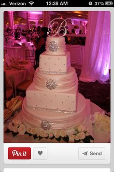 I found the cake that I want for our wedding day. I am SOOO in love with it! My FI is the bakery manager of price chopper and is maki Sparkly Wedding Cakes, Beautiful Wedding Cakes, Beautiful Cakes, Perfect Wedding, Elegant Wedding, Trendy Wedding, Funny Wedding Cakes, Sparkle Wedding, Wedding Wishes