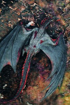 Daenerys Targaryen after Game of Thrones season 8 with Dragon. Can you guess where Drogon has taken his dead mother? Arte Game Of Thrones, Game Of Thrones Dragons, Got Dragons, Mother Of Dragons, Drogon Game Of Thrones, Dragon Rey, Red Dragon, Forest Games, Breathing Fire