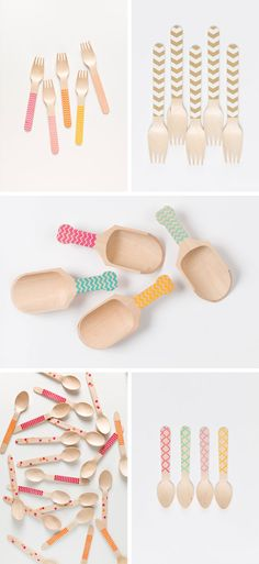 colourful utensils by Sucre   via RedBird Paperie