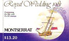 Royal Wedding 1981 Stamp Booklet Montserrat