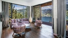The Senses Violett Suites in Zell am See: nature, style and luxury combine here to pure relaxation. Adults only hotel directly at lake zell Design Hotel, Design Suites, Alpine Modern, Zell Am See, Hallstatt, Executive Suites, Being A Landlord, Architecture Design, Relax