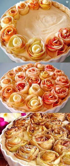 Apple rose cake.