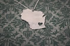 Silver Wiscomsin Necklace, Sparrow Collective, Milwaukee, WI