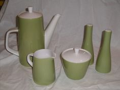 Mikasa Midcentury Avocado Green 5piece Coffee by GreenOliveShop, $27.00