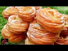 Afghani Qatlama - قتلمه افغانی - YouTube Ramadan Sweets, New Recipes, Cooking Recipes, Croissant Recipe, Best Bread Recipe, Flaky Pastry, Puff Pastry Recipes, Biscuit Cookies, Food Platters