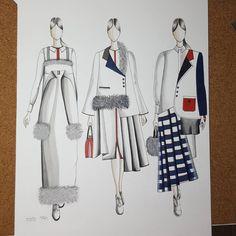 #thom_browne #thombrowne #thombrowneny #fashionillustration #fasionsketch #fashionsketching #drawing #shenkar #newyork
