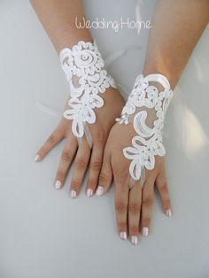 ivory wedding glove lace glove wedding Bridal by WEDDINGGloves