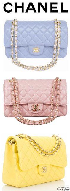 Sacs classiques Chanel déclinés en couleurs pastel