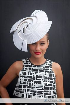 Brodie Worrell @brodieworrell__ wearing Felicity Northeast Millinery & Toni Maticevski dress, Derby Day 2015, Richard Shaw Photography