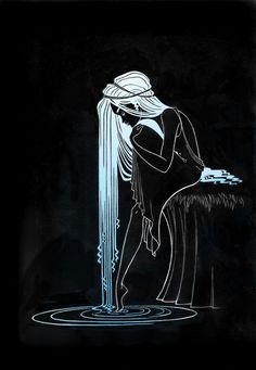 Truly, it is in darkness that one finds the light, So when we are in sorrow, Then this light is nearest of all to us.  *Meister Eckhart *Illustration by: Amber C Kenneson ღஜღ•๋●♪~Love ~♪•๋●ღஜღ MODaline Productions