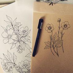 Botanical tattoo designs - essi tattoo #botanical #flower #sketch #ink #drawing #tattoodesign #illustration #art #instaartist
