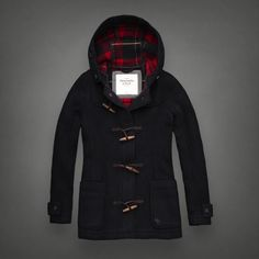 Classic Duffle Jacket with Toggles | Abercrombie.com | Check out our Pin To Win Challenge at http://on.fb.me/UfLuQd