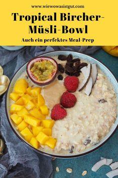 Werbung / Bircher Müsli ist in der Tat eines der besten Frühstücke. Es ist blitzschnell zubereitet, sättigt enorm, ist richtig variabel und kann als Meal-Prep für 3 oder 4 Tage im Voraus zubereitet werden. Daher unbedingt mal das Tropical Bircher Müsli probieren. Egal ob als Bowl oder in Gläser abgefüllt als #mealprep. Gerne zuckerfrei und proteinreich. #frühstück #rosinen #thermomix #birchermüsli Muesli, Fabulous Foods, Healthy Kids, Easy Peasy, Good Food, Favorite Recipes, Fruit, Cooking, Breakfast