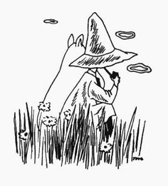 Moomin y Snufkin, who are best friends… This is another future tattoo. Moomins, in case you didn't know. Spectacular children's books and comics. Tove Jansson is one of my heroes. Moomin Tattoo, Moomin Wallpaper, Les Moomins, Moomin Valley, Tove Jansson, Stippling, Children's Book Illustration, Future Tattoos, Tatoos