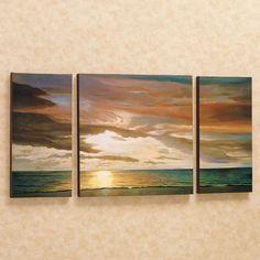 Quiet Horizons Canvas Triptych