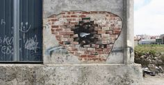 Spanish artist Pejac can make you look at ordinary streetscapes in a new way.